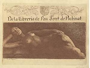 exlibris Font de Rubinat
