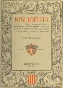bibliofília ramon miquel y planas