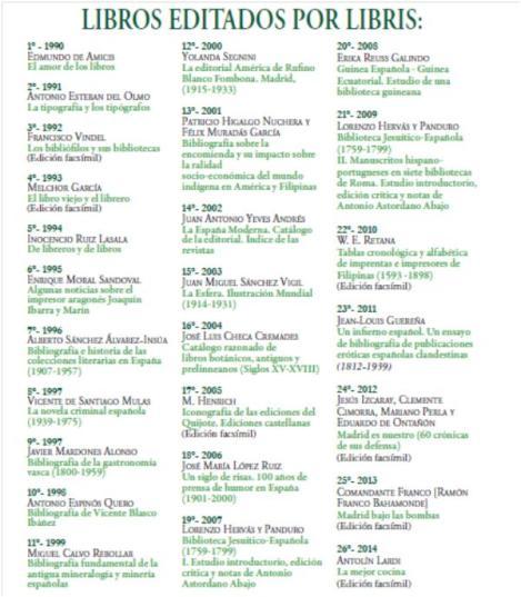 llibres editats per Libris