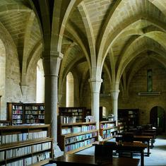 biblioteca monastir Poblet