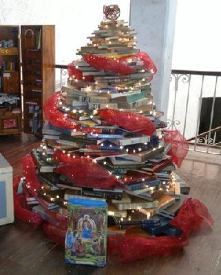 biblioarbol de navidad a Xalapa
