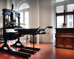 Hand press used by De Zilverdistel the first private press in the Netherlands