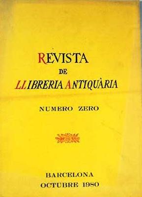 revista llibreria antiquaria número 0