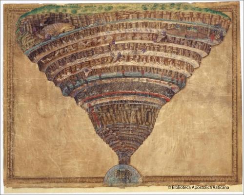 divina comedia il·lustració de Sandro Botticelli  incunable