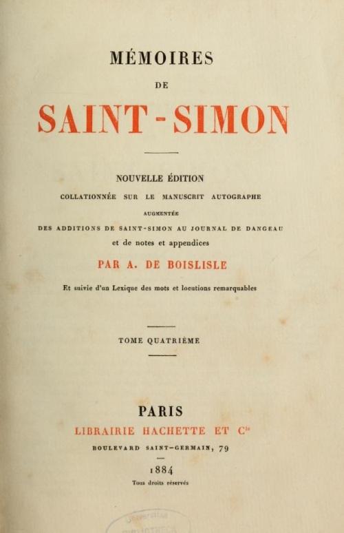 memoires saint simon