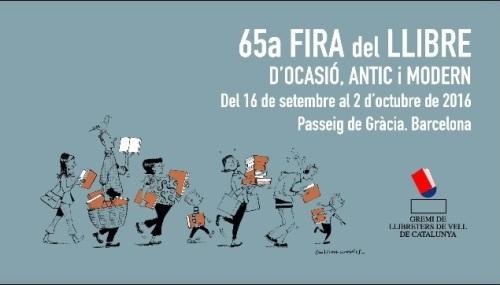 65a fira del llibre d'ocaasió antic i modern barcelona 2016a
