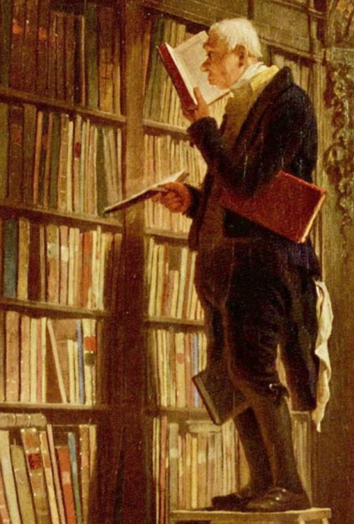 el bibliómano de Carl Spitzweg ca. 1850